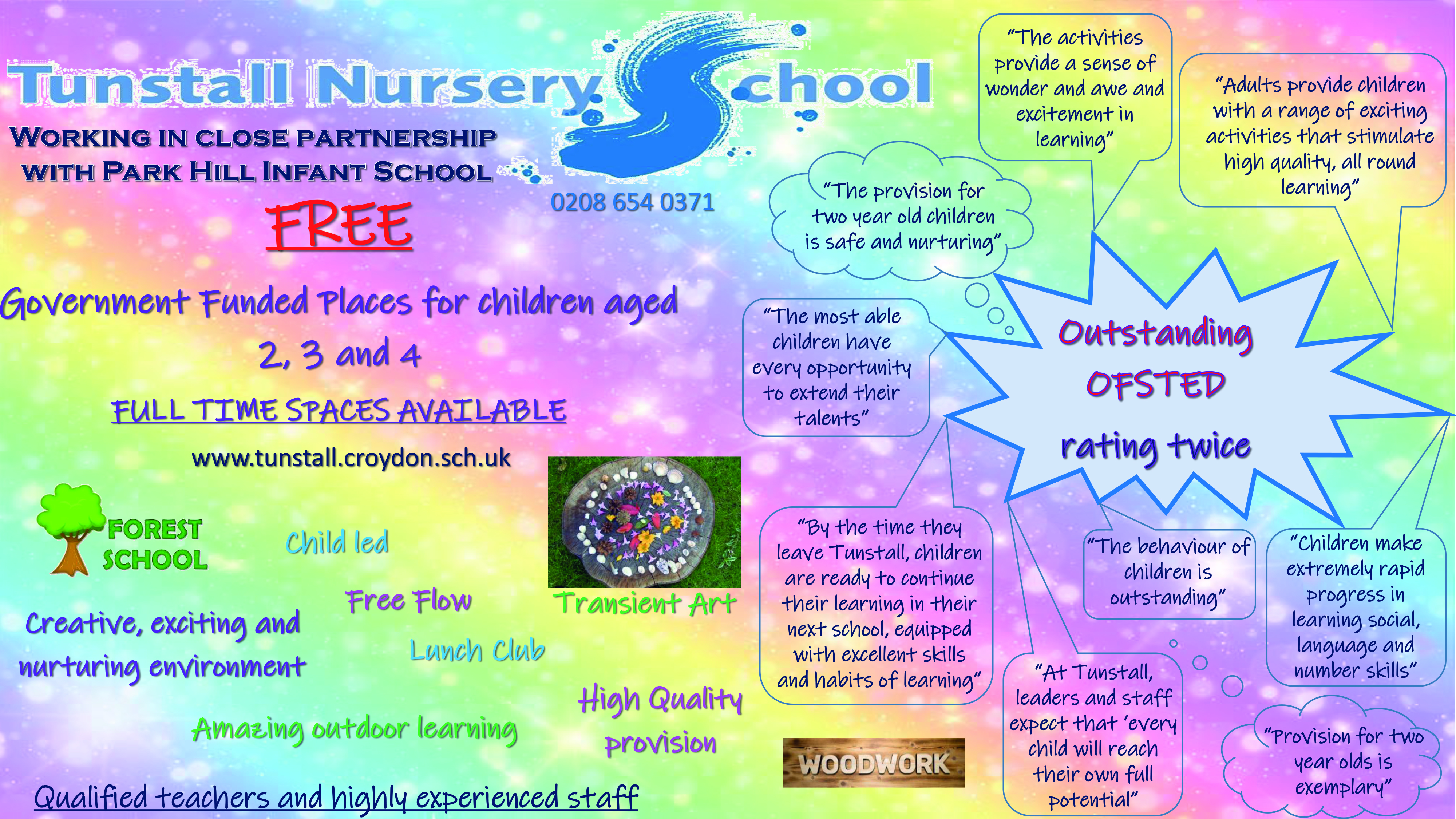 Tunstall Nursery School Advert